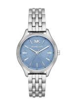 Michael Kors Lexington Three Hand Blue Dial Stainless Steel Watch NEW MK... - $125.44