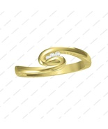 14 KT Gold Platinum Plated Sterling Silver Three Stone Promise Ring in S... - £11.90 GBP