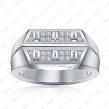 Father Day Special Dad Ring 925 Sterling Silver Round Cut White Cubic Zircon 6 7 - $79.97