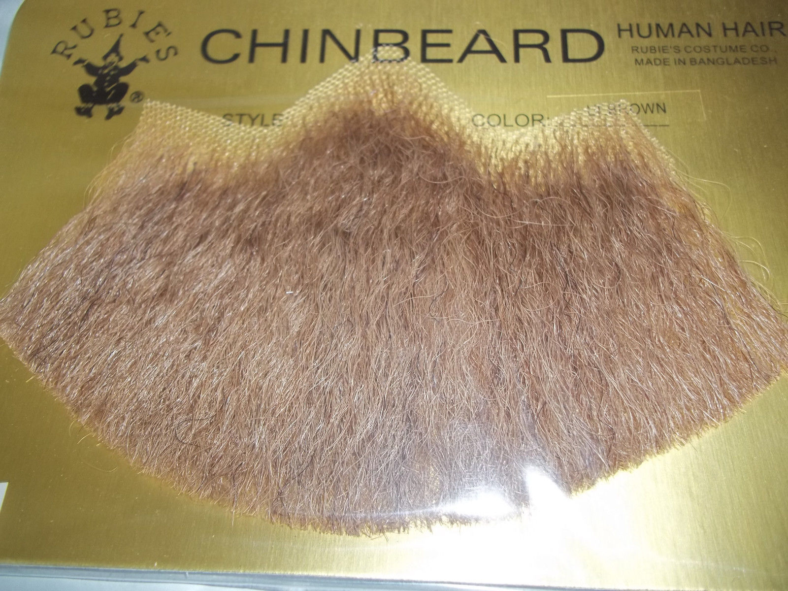 Dark Gray Human Hair Goatee Chin Beard Costume Beard 2022