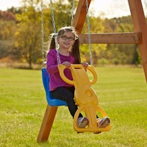 Kids Swing Seat Outdoor Play Set Backyard Playground Wind Rider Glide Child - $104.88