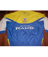 Logo Athletic NFL NFC Pro Line St. Louis Rams Yellow Blue Zipper Hood Ja... - $148.50
