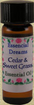 Cedar & Sweet Grass Essential Oil 1 dram - $7.00
