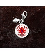 925 Sterling Silver Charm Diabetic Medical Alert Symbol Caduceus - $25.25
