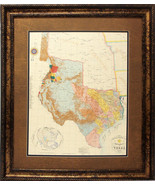 W840 Republic of Texas 1845 by John Davis, Map, Western Art, Rustic Prin... - $247.49