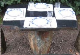Stone Age Creations TA-BO-1 Flintstone Natural Granite Boulders Stone Table - $2,627.04