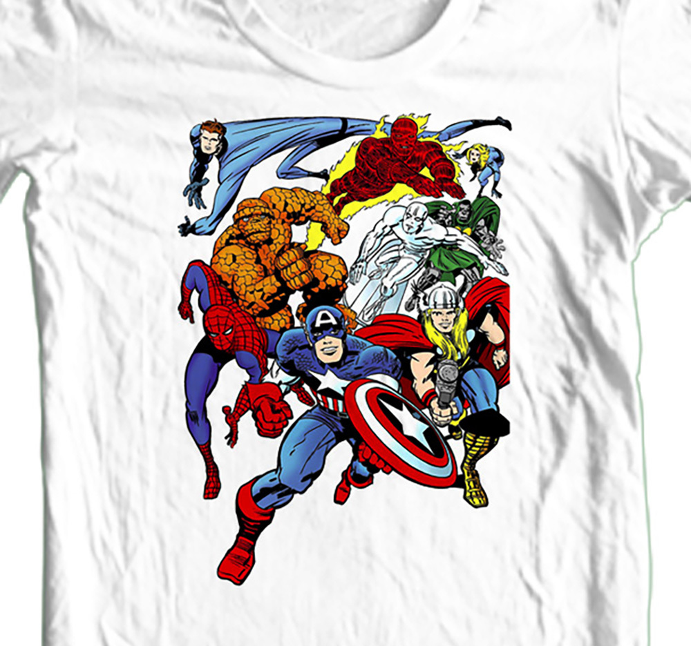 Marvel retro fantastic 4 capt am spidey thor whitel