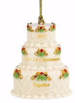 Lenox 2015 Our 1st Christmas Together Ornament First Wedding Cake Year D... - $22.67