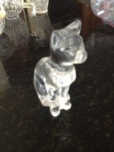 "fine crystal glass figurine cat approx 7"" - $119.99"