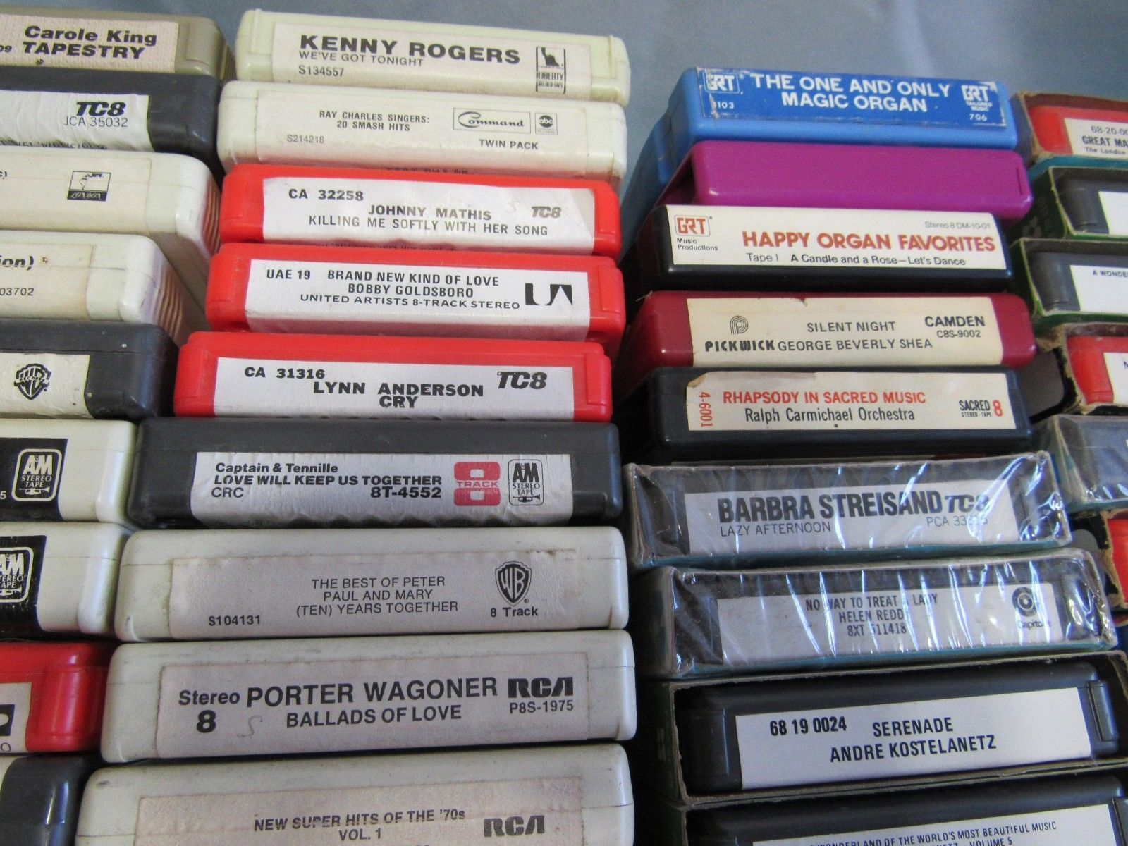 Lot of 90+ 8-Track Tapes Country Donna Summer, Alvin & Chipmunks, Pop More