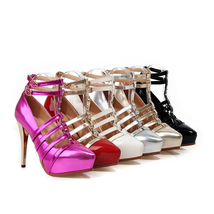 Platform Club Plus Thin Size red Dancing Night Shoes xXznz7Ar