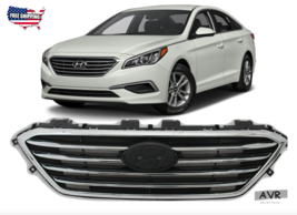 Fit For 2015 2016 2017 Hyundai Sonata Front Upper Grille Factory Style - $158.94