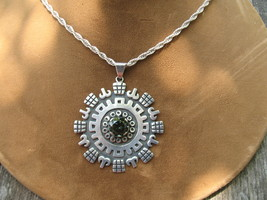 Taxco Tourmaline Pendant Mexico Sterling Silver... - $200.00