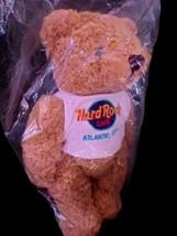 Hard Rock Cafe Atlantic City Teddy Bear Blue Logo Shaggy Plush Jointed NEW - $29.35