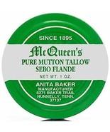 McQueen's Pure Mutton Tallow Sebo Flande net wt 1 oz - $6.72