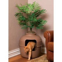 Cat Kitty Litter Box Decorative Palm Planter Pot Plastic Indoor Pet Hidd... - $89.99