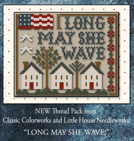 Home of the Brave Threadpack with floss (4 skeins) Classic Colorworks LHN