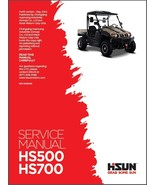 Hisun HS500 HS700 UTV Service / Maintenance Manual CD  HS500UTV HS700UTV... - $12.00