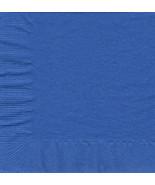 50 Plain Solid Colors Luncheon Dinner Napkins Paper - Cobalt/Royal Blue - $3.65