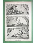 ART NOUVEAU Era Original Print 1898 - Nude Muse... - $43.56
