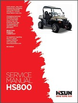 Hisun HS800 UTV Service / Maintenance Manual CD - HS800UTV 800 - $12.00