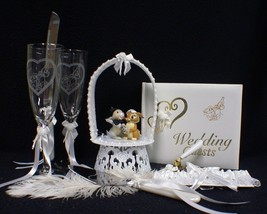 Thumper Disney Wedding Cake Topper Lot Glasses Bambi - $133.45