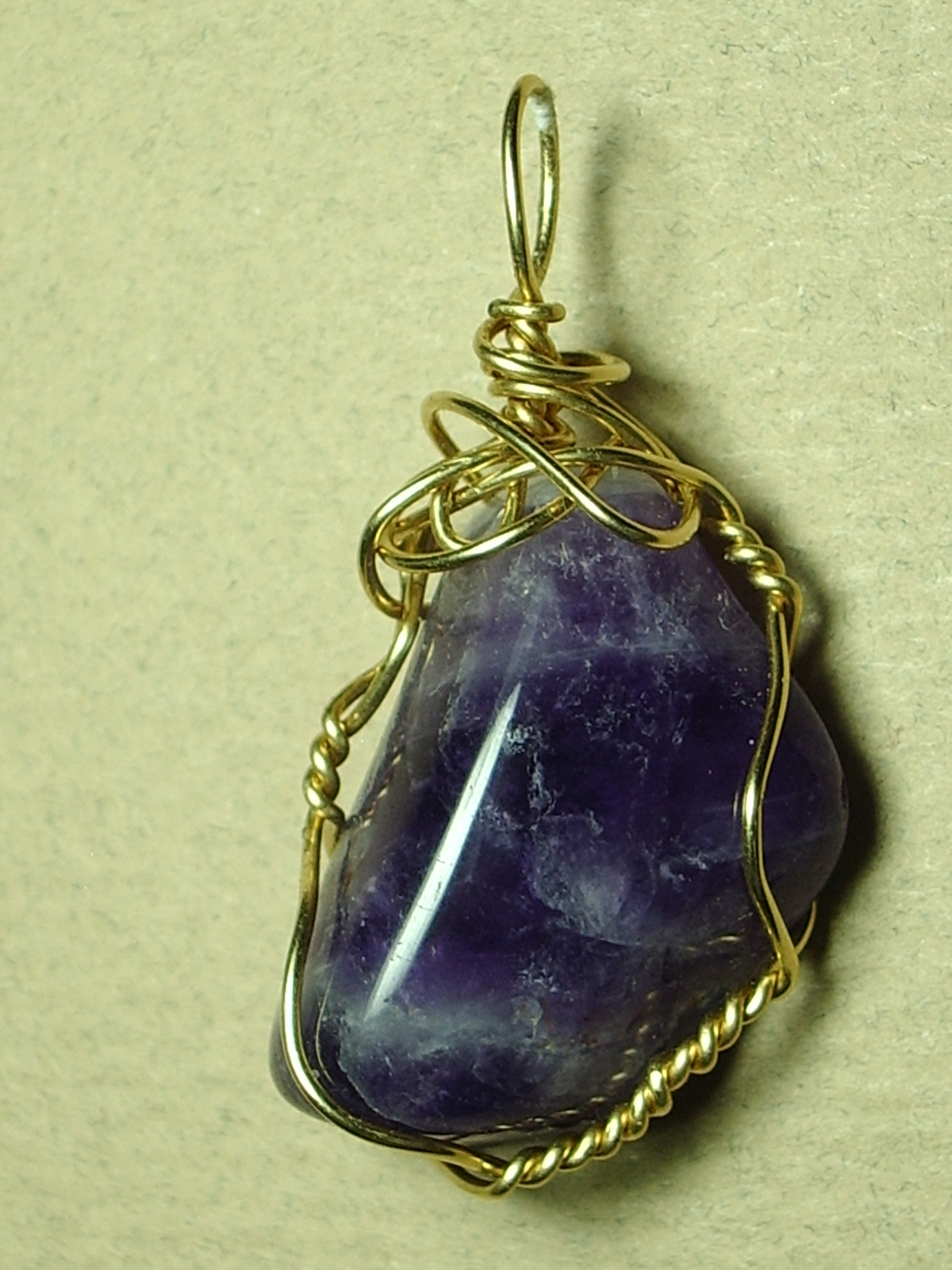Primary image for Amethyst Pendant Wire Wrapped 14/20 Gold Filled Handcrafted by Jemel