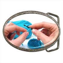 Crocheting Chrome Finished Belt Buckle - $9.65