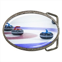 Curling Chrome Finished Belt Buckle - $9.65