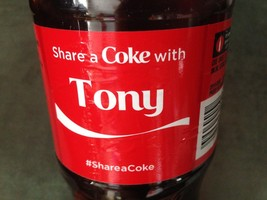 Share a COKE with TONY 20 fl oz Collectible Bottle RARE Coca-Cola Name F... - $4.75