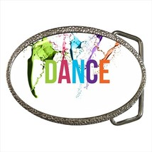 Dance Chrome Finished Belt Buckle - $9.65