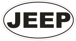 Jeep Oval Bumper Sticker or Helmet Sticker D522 Laptop Cell Phone Euro Oval - $1.39+