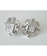 CZ Enhanced Sterling Silver Four Direction Earrings - $39.95
