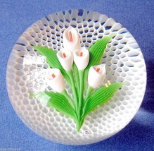 "Baccarat Arum Lily Crystal Paperweight 3"" Honeycomb Ltd Edt 43/200 #1774... - $795.00"