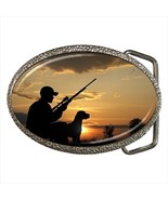 Duck Hunting Bird Hunting Chrome Finished Belt Buckle - $9.65