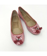 Sperry Top Sider Flats, Size 7, Red & White Sequins with Tassels  - $25.93