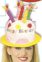 HAPPY BIRTHDAY HAT WITH CANDLES  - $9.00