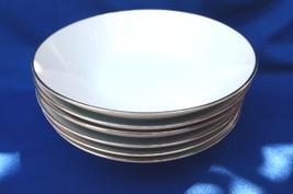 Noritake Reina Soup Plates Bowls Platinum Rim W... - $38.00