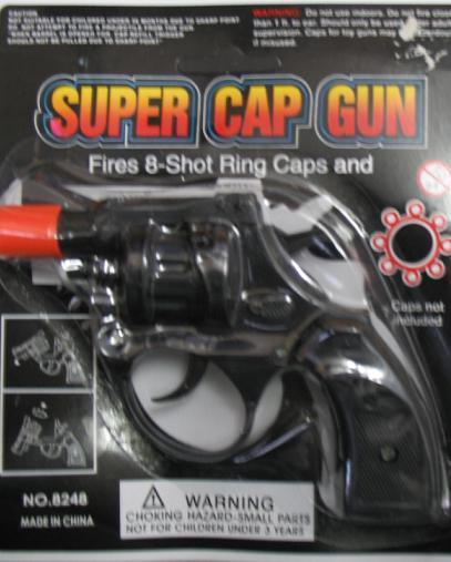 TOY SUPER SNUB NOSE CAP GUN 8 SHOT RING
