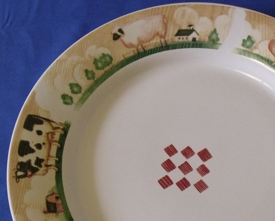 Gibson Dinnerware Large Round Country Serving Platter