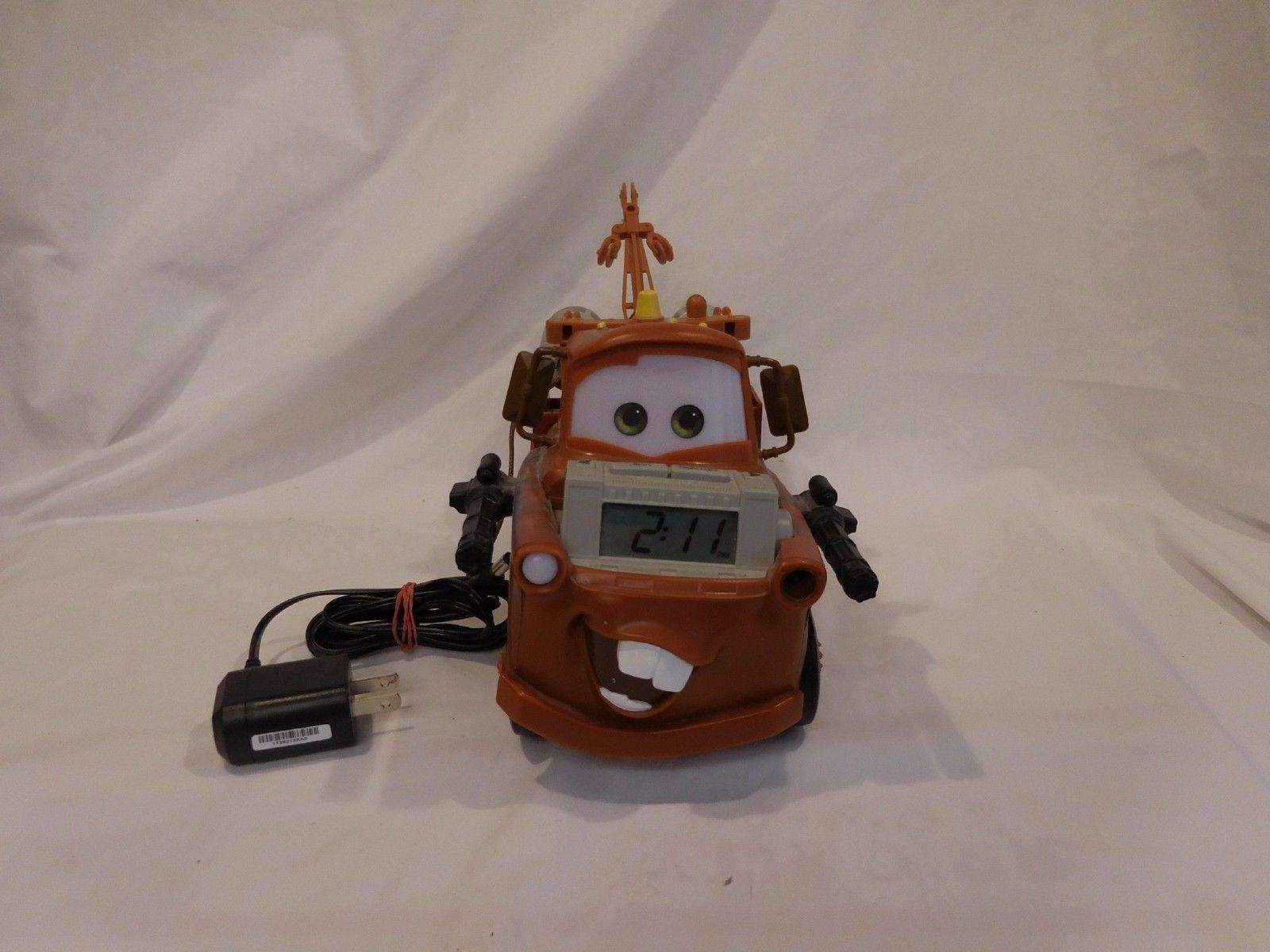 Primary image for Disney Pixar Cars Tow Mater Truck Alarm Clock Night Light and Storyteller