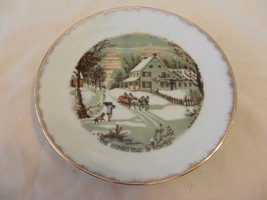 """The Homestead in Winter Currier & Ives Collector Plate 7"""" (H1) - $23.75"""