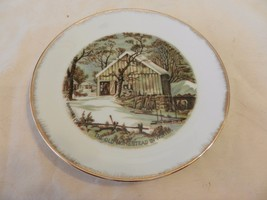 """The Old Homestead in Winter Currier & Ives Collector Plate 7"""" (H1) - $23.75"""