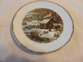 """A Home In The Wilderness Currier & Ives Collector Plate 7"""" (H1) - $23.75"""