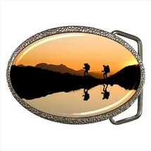 Hiking Chrome Finished Belt Buckle - $9.65