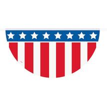 Patriotic Plastic Flag Garland Bunting 12' Party Decorations Veterans - $4.74