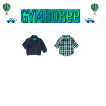 "Gymboree Baby Boys ""We Have Arrived""Cardigan/ crew top 2 Piece Set 18-24m - $35.64"