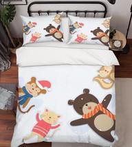 3D Animals Dolls Bed Pillowcases Quilt Duvet Cover Set Single Queen King Size AU - $90.04+