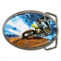 Mountain Biking Motor Sports Chrome Finished Belt Buckle - $9.65