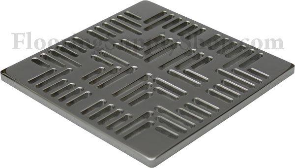 Ebbe Unique Square Shower Drain Brushed Nickel - Metro